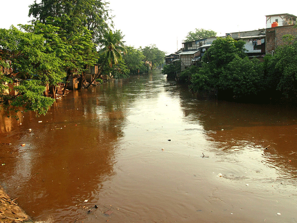 Ciliwung River at Bukit Duri and Kampung Pulo, Jakarta, July 2013. Photo: Kian Goh.