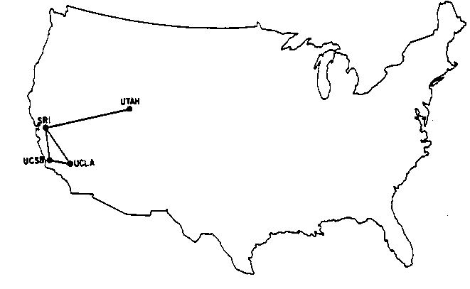 ARPANet map, 1969. © Advanced Projects Research Agency