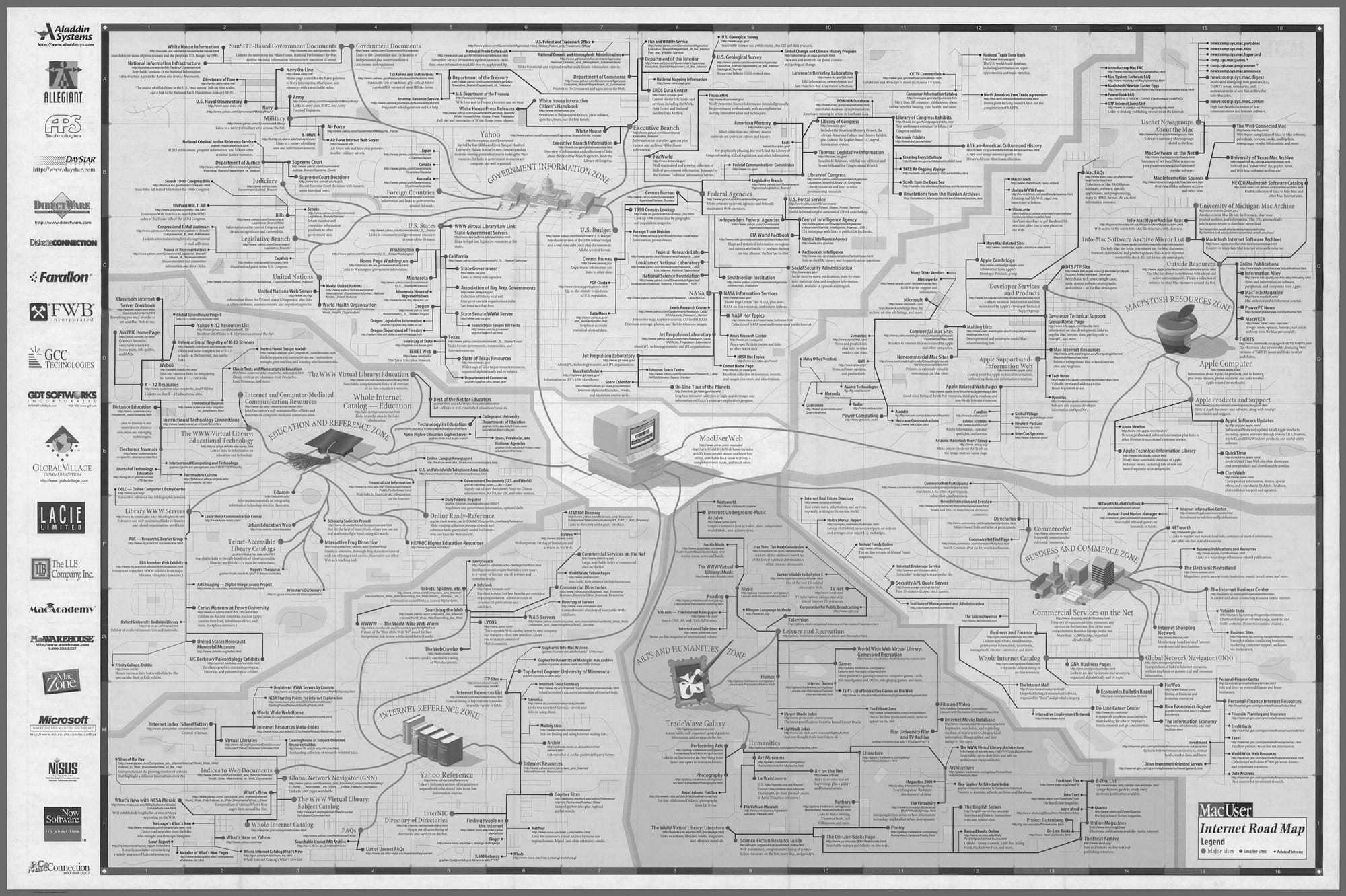 _MacUser_ Internet Road Map, 1996.© David Rumsey Map Collection