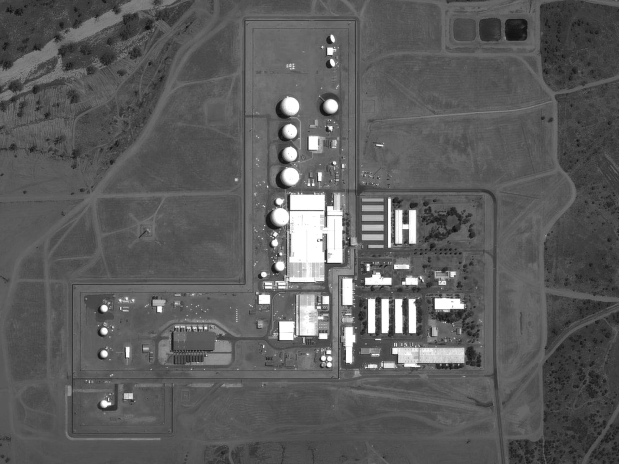 Joint Defence Facility Pine Gap, as shown on Bing Maps, 2017. Screenshot, Bing Maps