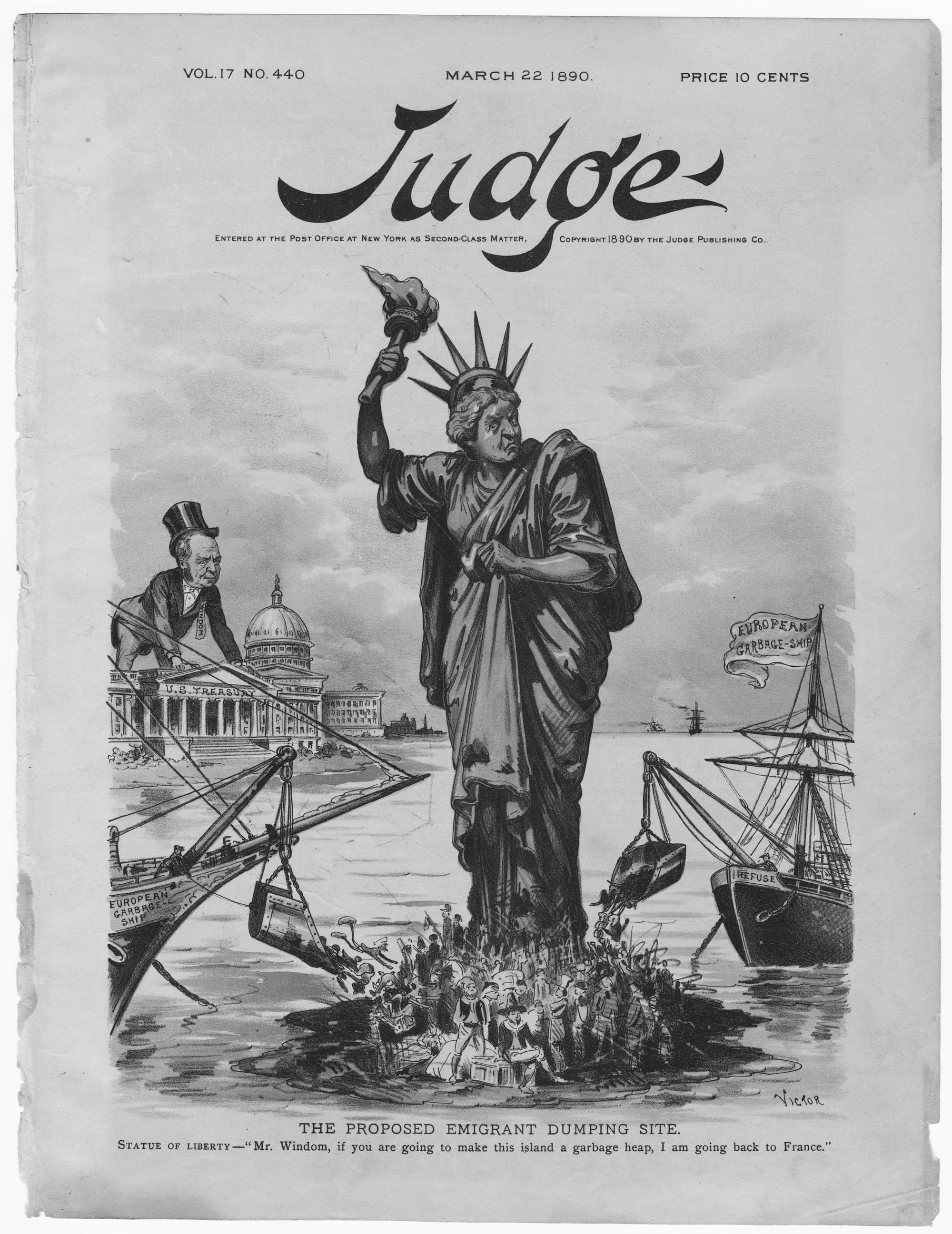 Cover of _The Judge_, March 22, 1890.