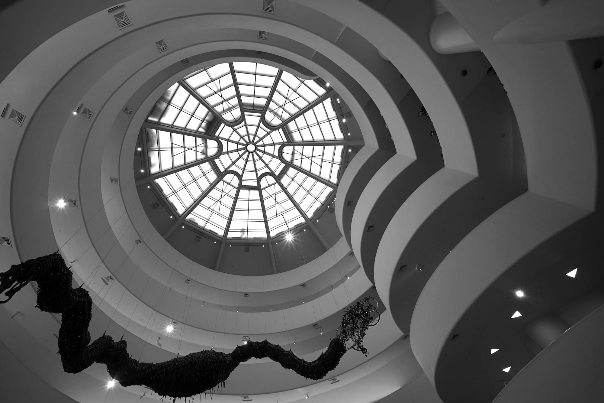 Michael Waters, interior view of Solomon R. Guggenheim Museum. © Michael Waters, courtesy the photographer
