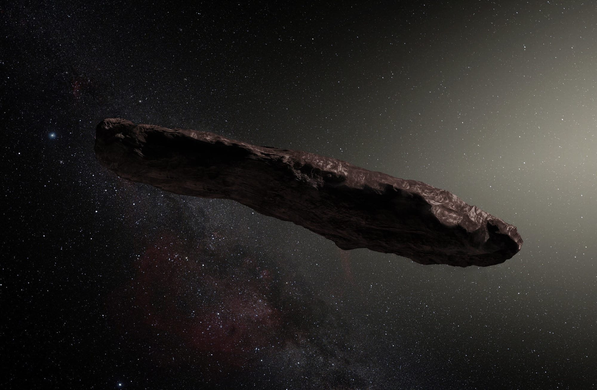 Artist's impression of 'Oumuamua. Credit: ESO / M. Kornmesser